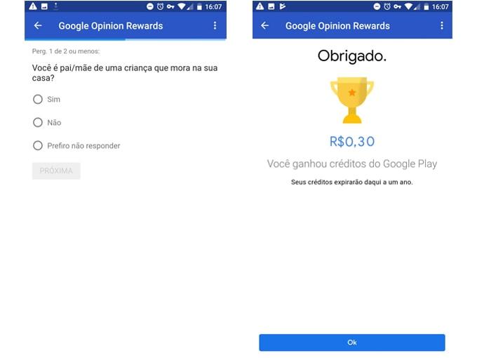 Ganhe dinheiro com Google Opinion