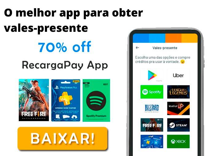 O melhor app para obter vales-presente