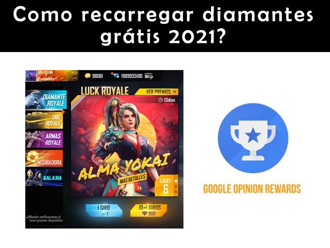 Como recarregar diamantes gratis em 2021?