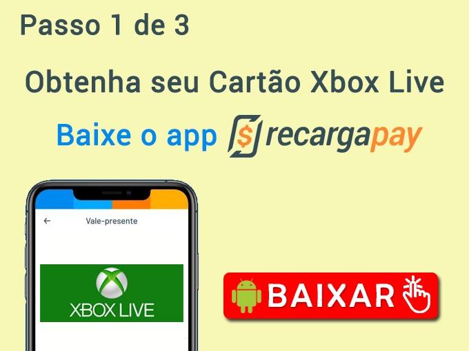 baixe o app para comprar Cartão Xbox Live grátis