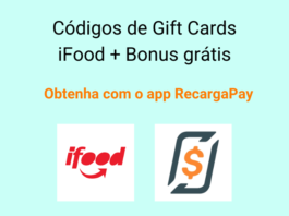 Códigos de Gift Cards iFood + Bonus grátis