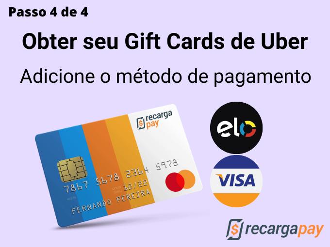 Passo 4 de 4 para Obter seu Gift Cards de Uber