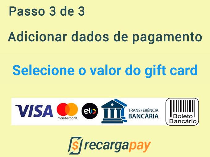 Adicionar dados de pagamento