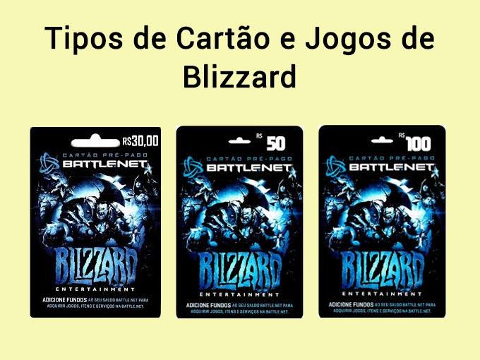 Tipos de Gift cards Blizzard Games