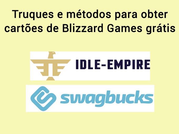 metodos para obter Gift cards Blizzard Games