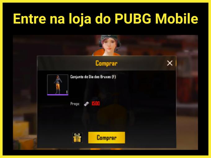 Entre na loja do PUBG Mobile