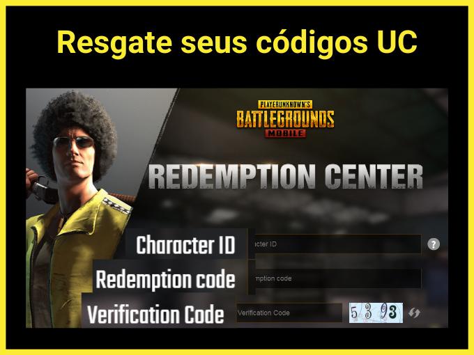 Resgate seus códigos UC