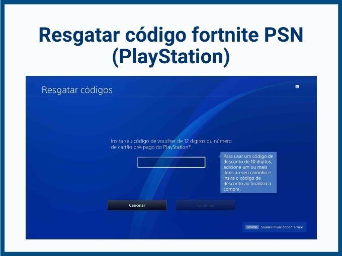 Resgatar código Fortnite via PSN