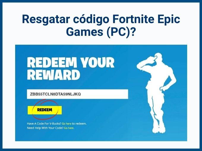 Como resgatar Código Fortnite pela Epic Games